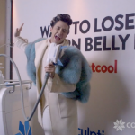 Johnny Weir Singing into a CoolSculpting Applicator